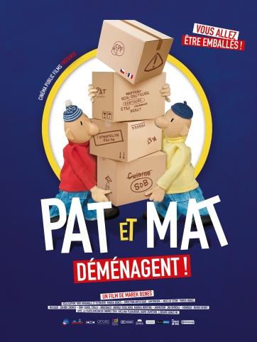 « Pat et Mat déménagent », de Mare Beneš, sortie le 28 mars 2018, République Tchèque, 40 minutes, Cinéma Public Film (CPF)